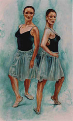 Dancers Sarah and Jessie, a Painting by Tim Darnell