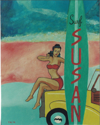Surf Susan, Pop Art by Tim Darnell